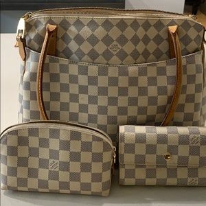 Louis Vuitton Handbag, Wallet, and cosmetic Pouch